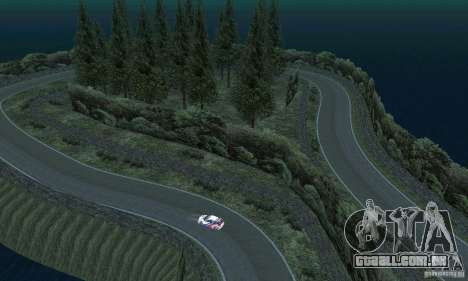 A rota do rali para GTA San Andreas décima primeira imagem de tela