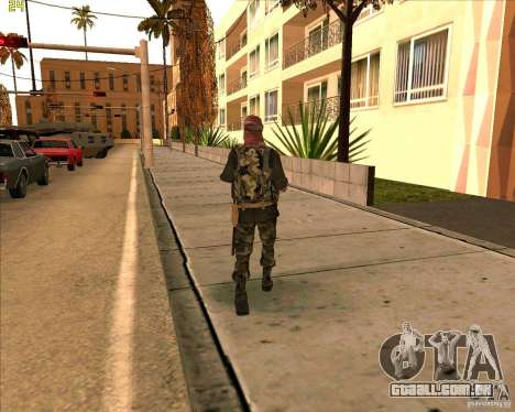 Dušmana de pele de COD4 para GTA San Andreas terceira tela