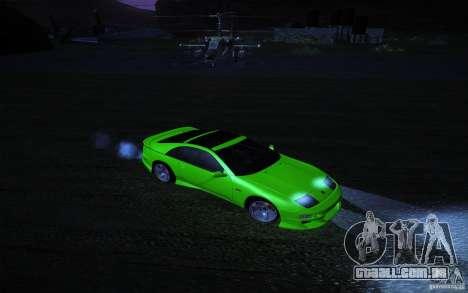 Nissan 300 ZX para GTA San Andreas vista traseira
