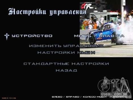 Fórmula Drift-estilo menu para GTA San Andreas terceira tela