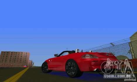 BMW Z4 V10 2011 para GTA Vice City vista traseira esquerda