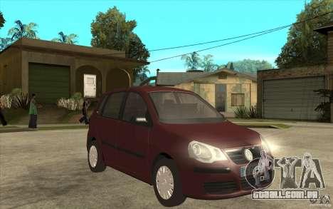 Volkswagen Polo 2006 para GTA San Andreas vista traseira