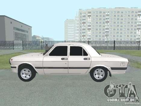 GAZ-24 Volga 105 para GTA San Andreas esquerda vista