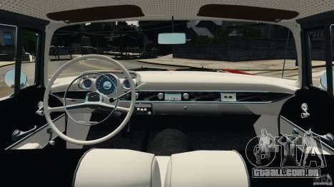 Chevrolet Bel Air Hardtop 1957 Light Tun para GTA 4 vista de volta