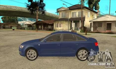 Audi S6 Limousine V1.1 para GTA San Andreas esquerda vista