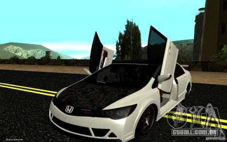 Honda Civic Type R para GTA San Andreas vista superior