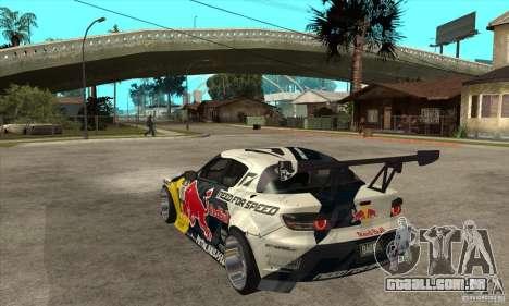 Mazda RX8 NFS Team Mad Mike para GTA San Andreas traseira esquerda vista