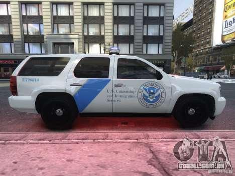 Chevrolet Tahoe Homeland Security para GTA 4 vista de volta