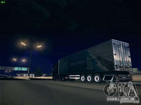 Trailer de Scania R620 Dubai Trans para GTA San Andreas vista superior