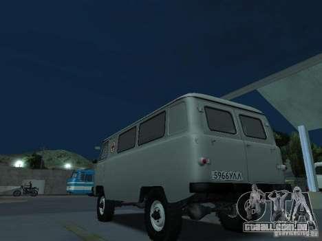UAZ 451A para GTA San Andreas traseira esquerda vista
