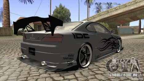 Nissan Silvia S15 Logan para GTA San Andreas vista direita