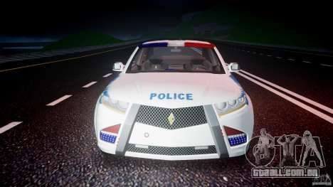 Carbon Motors E7 Concept Interceptor NYPD [ELS] para GTA 4 vista inferior