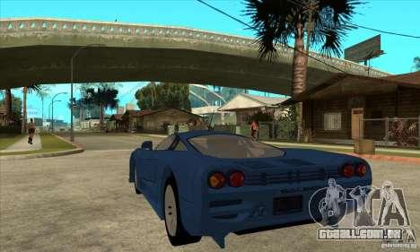 Saleen S7 v1.0 para GTA San Andreas traseira esquerda vista