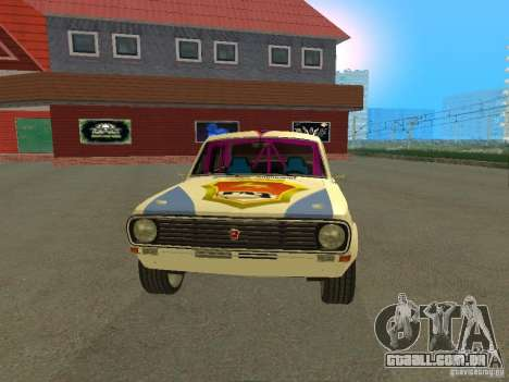 Volga GAZ 24-10 Rally para GTA San Andreas vista direita