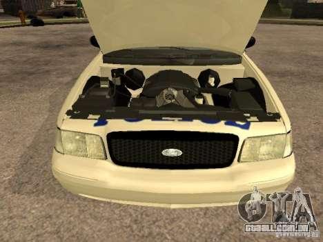 Ford Crown Victoria 2003 Police para GTA San Andreas vista traseira