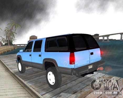 Chevrolet Suburban 1996 para GTA Vice City deixou vista