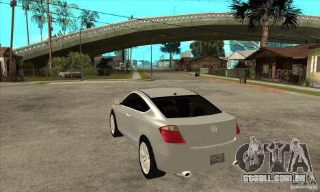 Honda Accord Coupe 2009 para GTA San Andreas traseira esquerda vista