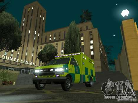 London Ambulance para GTA San Andreas vista traseira