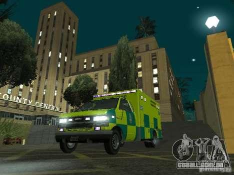 London Ambulance para GTA San Andreas vista traseira