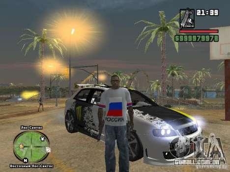 Futebol na Rússia para GTA San Andreas segunda tela