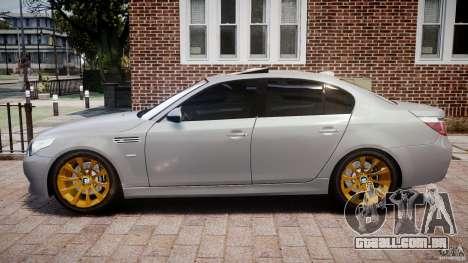 BMW M5 E60 2009 para GTA 4 esquerda vista