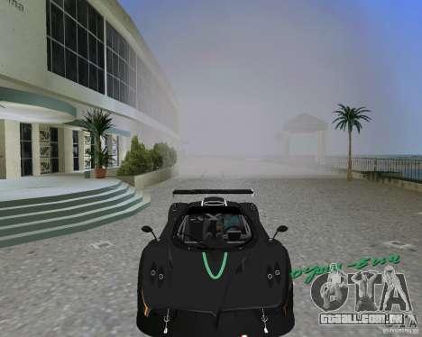 Pagani Zonda R para GTA Vice City vista traseira esquerda