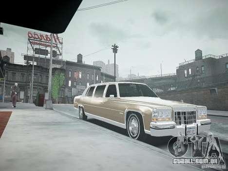 Cadillac Fleetwood 1985 para GTA 4 vista direita