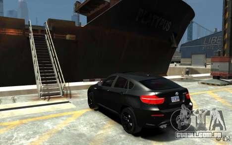 BMW X6 M para GTA 4 traseira esquerda vista