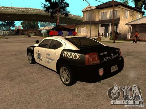 Dodge Charger RT Police para GTA San Andreas esquerda vista