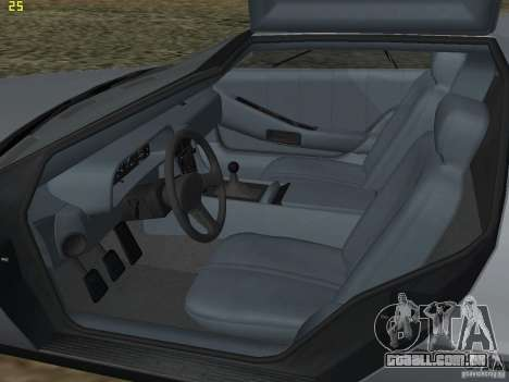DeLorean DMC-12 para GTA San Andreas vista interior