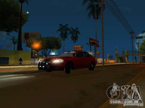 Chevrolet Impala Unmarked para GTA San Andreas esquerda vista
