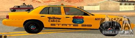 Ford Crown Victoria 2003 Taxi for state 99 para GTA San Andreas esquerda vista