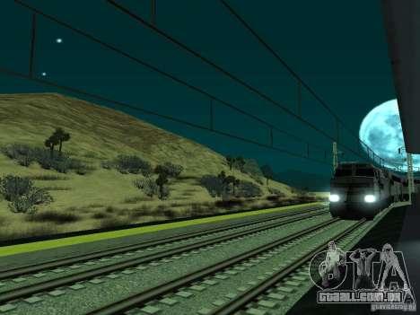 Linha ferroviária de alta velocidade para GTA San Andreas sexta tela