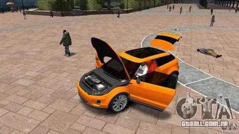 Range Rover LRX 2010 para GTA 4 vista de volta