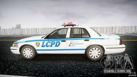 Ford Crown Victoria Police Department 2008 LCPD para GTA 4 esquerda vista