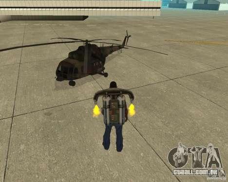 Transporte aéreo de Pak para GTA San Andreas vista traseira