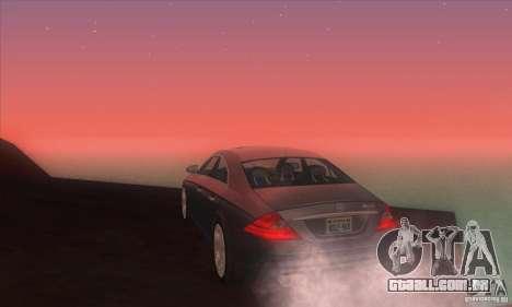 Mercedes-Benz CLS AMG para GTA San Andreas traseira esquerda vista