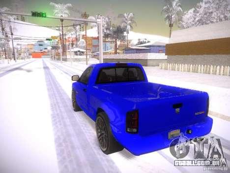 Dodge Ram SRT-10 para GTA San Andreas esquerda vista