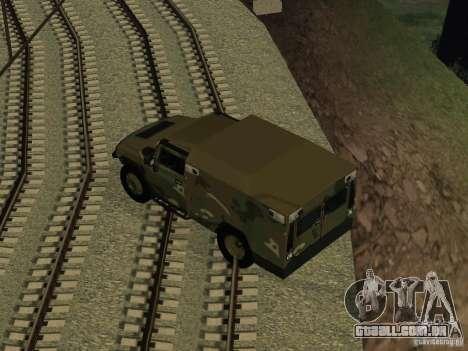 Hummer H2 Army para GTA San Andreas vista direita