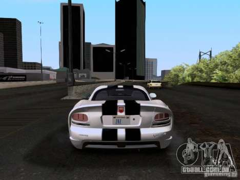 Dodge Viper SRT-10 Custom para GTA San Andreas vista direita