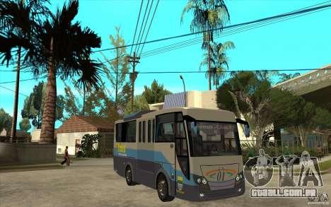 Hino Evo C para GTA San Andreas vista traseira