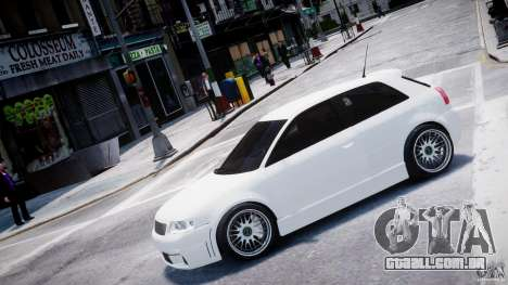 Audi A3 Tuning para GTA 4 esquerda vista