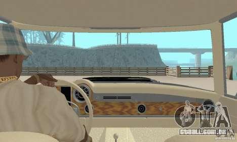 Mercedes-Benz 280SL (brilhante) para GTA San Andreas vista interior