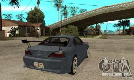 Nissan Silvia S15 Tun para GTA San Andreas vista direita