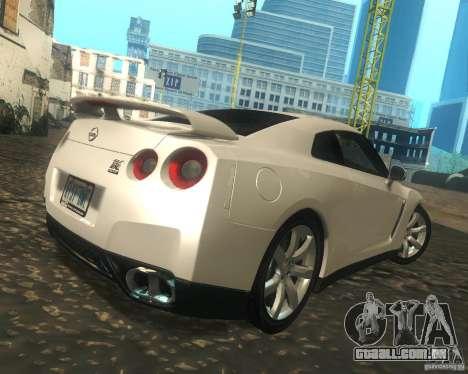 Nissan GTR R35 Spec-V 2010 Stock Wheels para GTA San Andreas vista direita