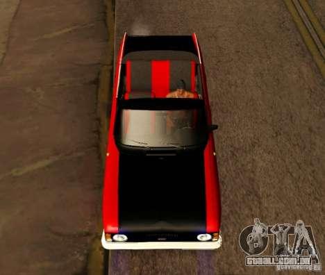Moskvich 412 Cabrio para GTA San Andreas traseira esquerda vista