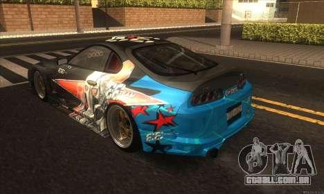 Toyota Supra Evil Empire para GTA San Andreas vista direita