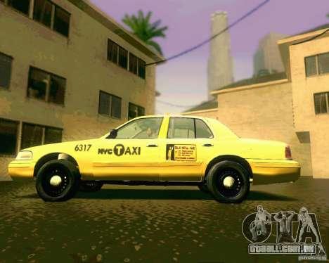 Ford Crown Victoria 2003 NYC TAXI para GTA San Andreas traseira esquerda vista