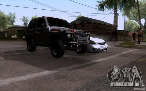 VAZ Niva 21213 arrastar para GTA San Andreas traseira esquerda vista