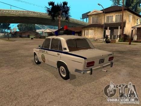 Polícia VAZ 2103 para GTA San Andreas esquerda vista